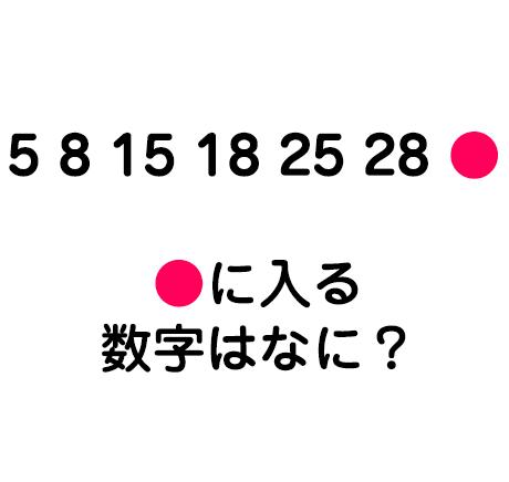 ●に入る数字は?