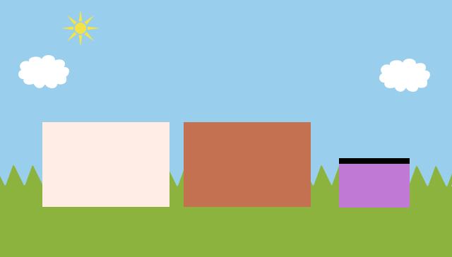 ミドリノ草原で草をもっしゃもっしゃ食べながら、のんびり暮らしているよ。キュルッ